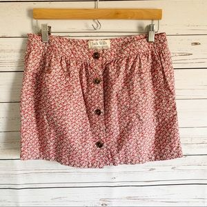 Jack Wills Button Down Floral Skirt size 6